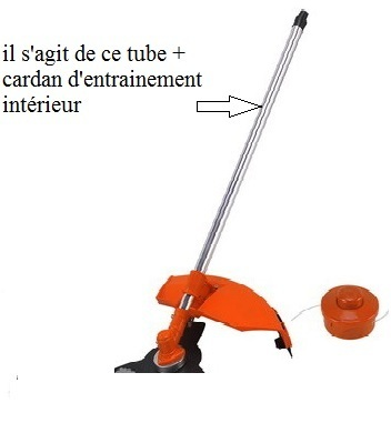 Tube + cardan débroussailleuse de multifonctions ( axe rond ayant 9 cannelures ! )